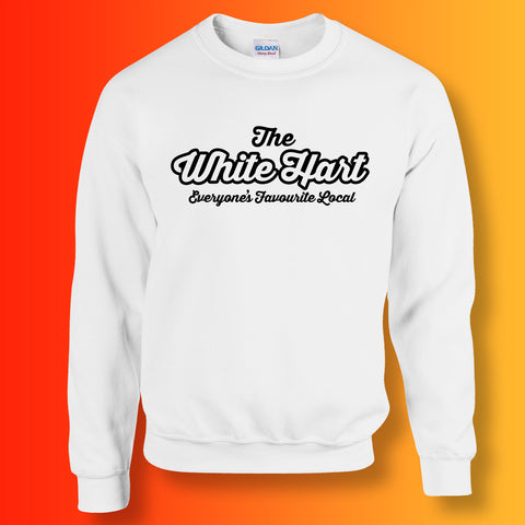 White Hart Everyone's Favourite Local Sweater White