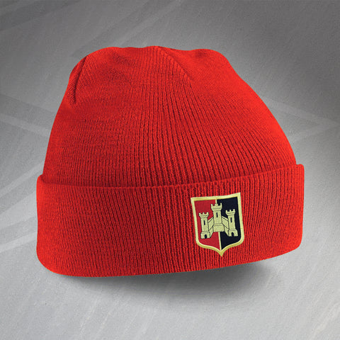 Exeter Football Beanie Hat Embroidered 1972