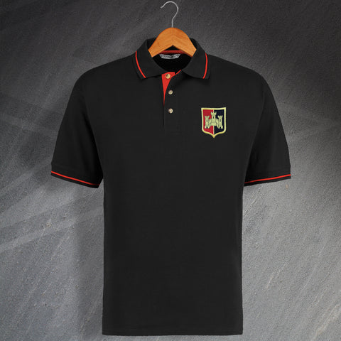Exeter Football Polo Shirt Embroidered Contrast 1972
