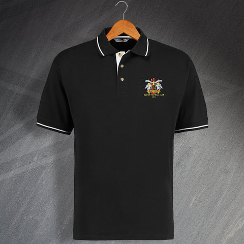 Retro Exeter FC RFU Embroidered Contrast Polo Shirt