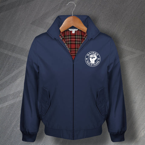 Falkirk Football Harrington Jacket Embroidered Bairns Pride of Falkirk