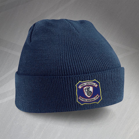 Falkirk Football Beanie Hat Embroidered 1957