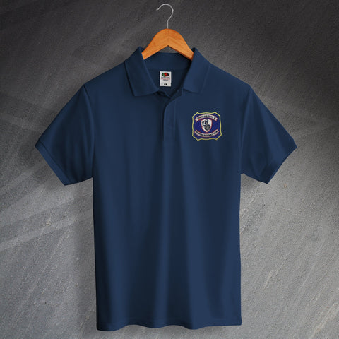 Falkirk Football Polo Shirt Embroidered 1957