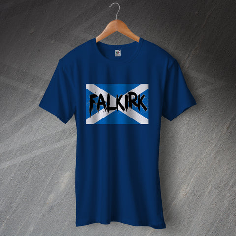 Falkirk Football T-Shirt Grunge Flag of Scotland