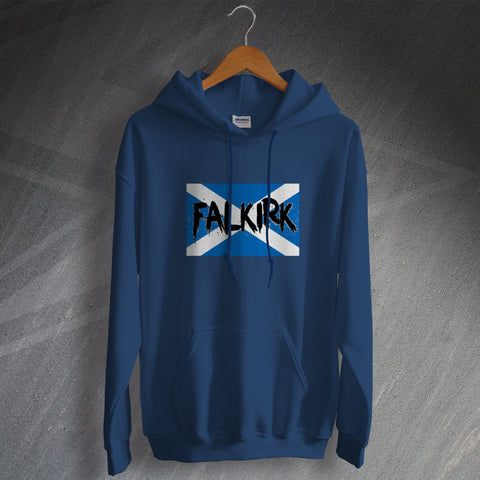 Falkirk Football Hoodie Grunge Flag of Scotland