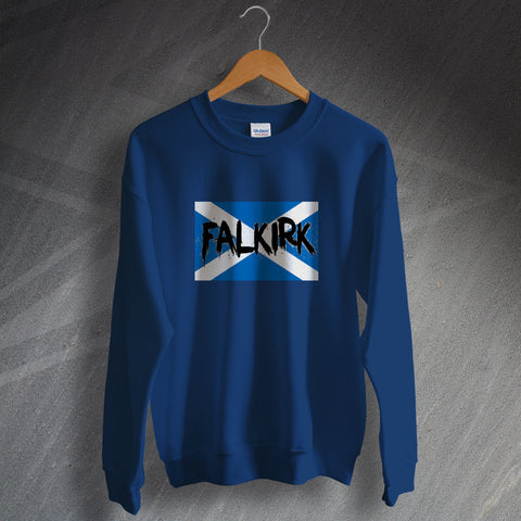 Falkirk Football Sweatshirt Grunge Flag of Scotland