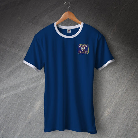 Falkirk Football Shirt Embroidered Ringer 1957