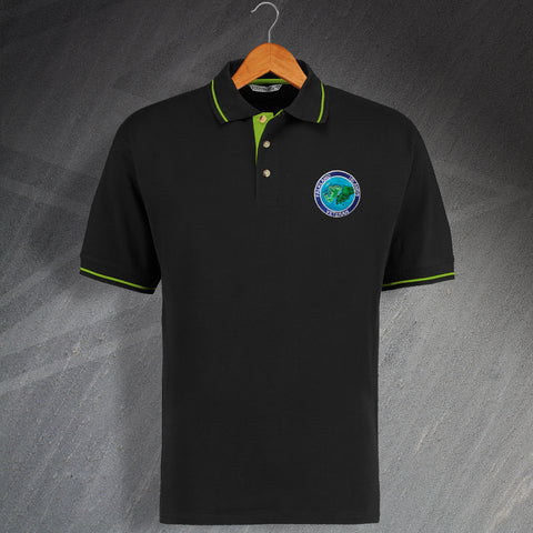 Falkland Islands Veteran Embroidered Contrast Polo Shirt