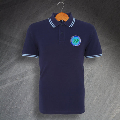 Falkland Islands Veteran Embroidered Tipped Polo Shirt