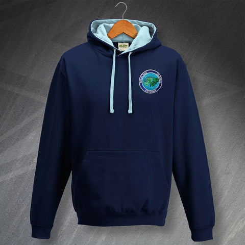 Falkland Islands Veteran Embroidered Contrast Hoodie