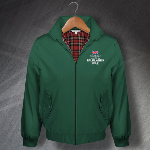 Proud to Have Served In The Falklands War Embroidered Classic Harrington Jacket