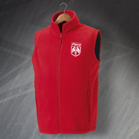 Fiero Fleece Gilet Embroidered