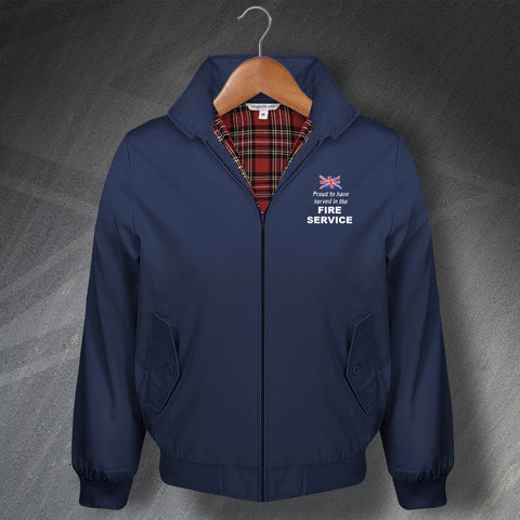 Fire Service Harrington Jacket Embroidered Proud to Have Served
