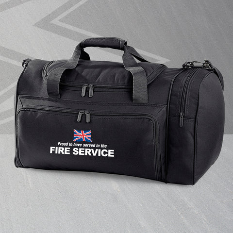 Fire Service Holdall Embroidered Proud to Have Served