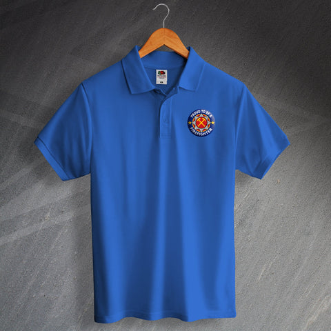Fire Service Polo Shirt Embroidered Proud to Be a Firefighter