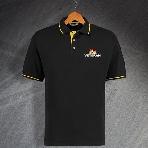 Fire Service Polo Shirt Embroidered Contrast Veteran