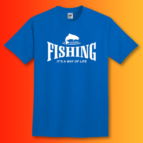 Fishing T-Shirt with It's a Way of Life Design