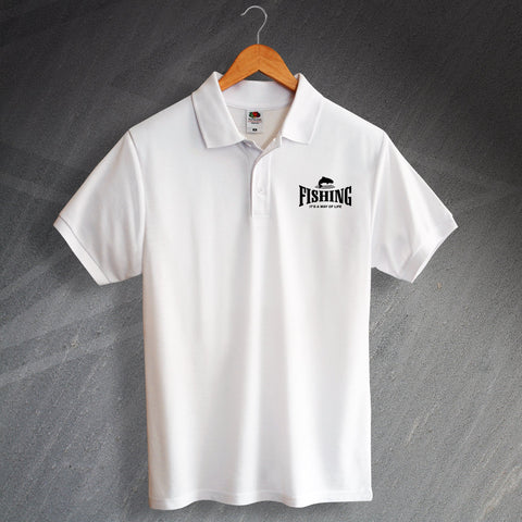 Fishing It's a Way of Life Polo Shirt