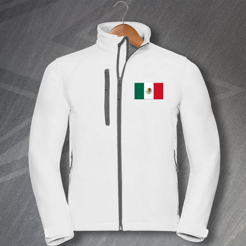 Mexico Jacket Embroidered Softshell Flag of Mexico