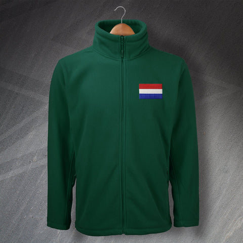 Netherlands Fleece Embroidered Flag of the Netherlands