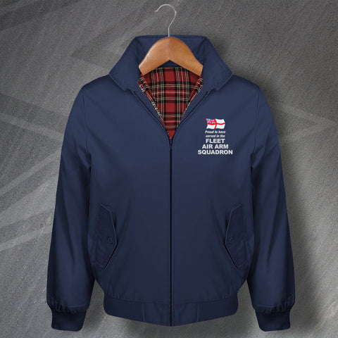 Proud to Have Served in The Fleet Air Arm Squadron Embroidered Classic Harrington Jacket