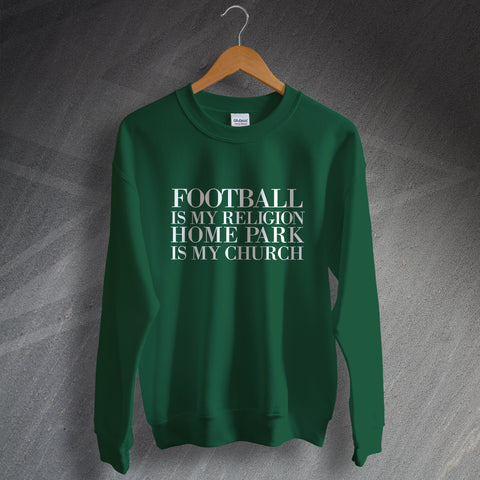 Plymouth Football Sweatshirt Football is My Religion Home Park is My Church