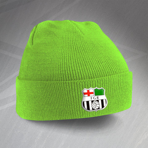Forest Green Football Beanie Hat Embroidered 1975