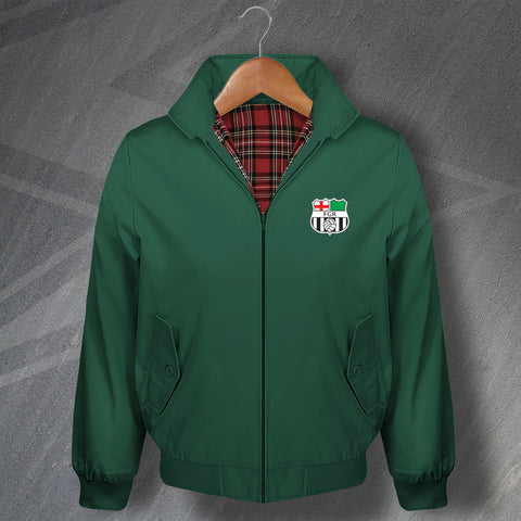 Forest Green Football Harrington Jacket Embroidered 1975