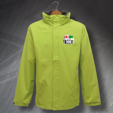 Forest Green Football Jacket Embroidered Waterproof 1975