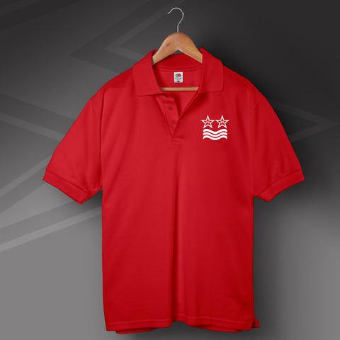 Forest Football Polo Shirt Printed European Winning Stars