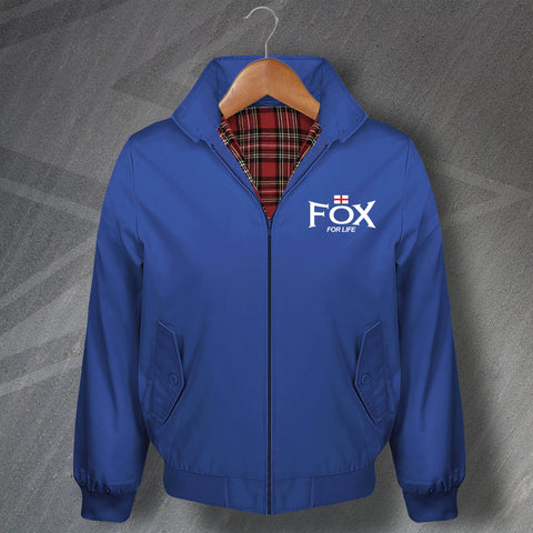 Leicester Football Harrington Jacket Embroidered Fox for Life