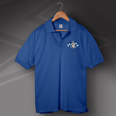 Leicester Football Polo Shirt Printed Foxes Keep The Faith
