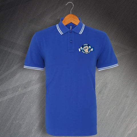 Leicester Football Polo Shirt Embroidered Tipped Foxes Keep The Faith