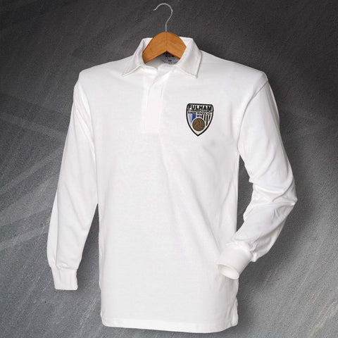 Retro Fulham St Andrew's Church Sunday School FC Long Sleeve Football Shirt with Embroidered Badge