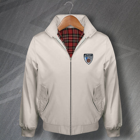 Retro Fulham St Andrew's Church Sunday School FC Harrington Jacket with Embroidered Badge