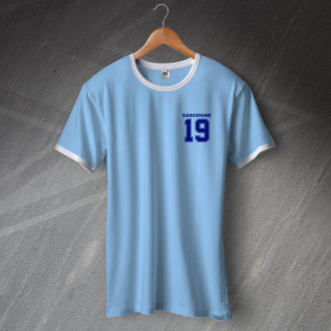 Lazio Football Shirt Embroidered Ringer Gascoigne 19