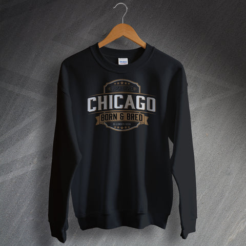 Genuine Chicago Born and Bred Unisex Sweatshirt