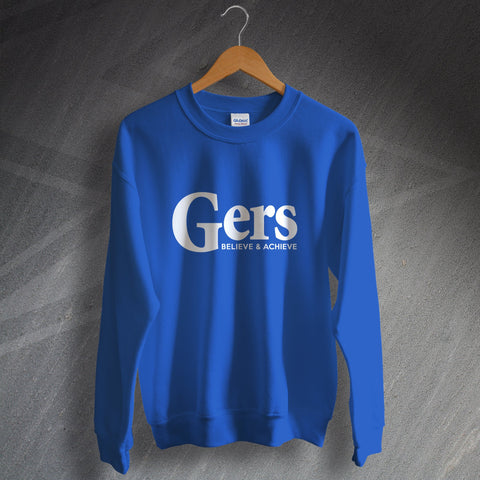Rangers Football Sweatshirt Gers Believe & Achieve