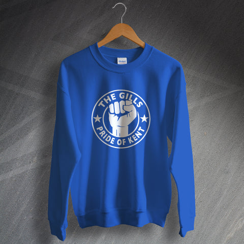 Gillingham Football Sweatshirt The Gills Pride of Kent