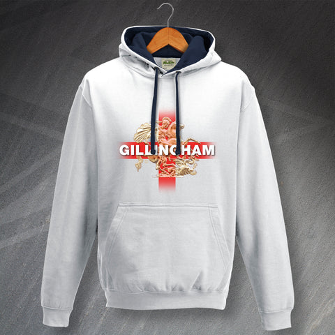 Gillingham Football Hoodie Contrast Saint George and The Dragon