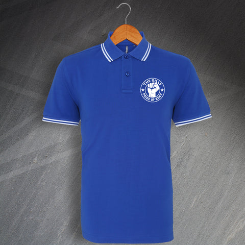Gillingham Football Polo Shirt Embroidered Tipped The Gills Pride of Kent