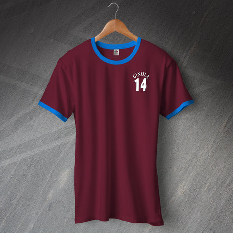Villa Football Shirt Embroidered Ringer Ginola 14