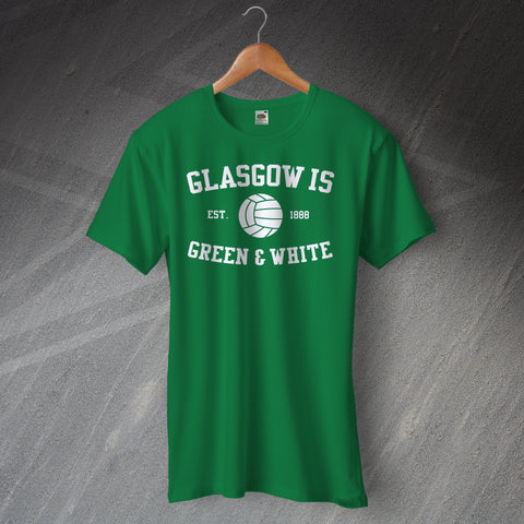 Celtic Football T-Shirt Glasgow is Green & White