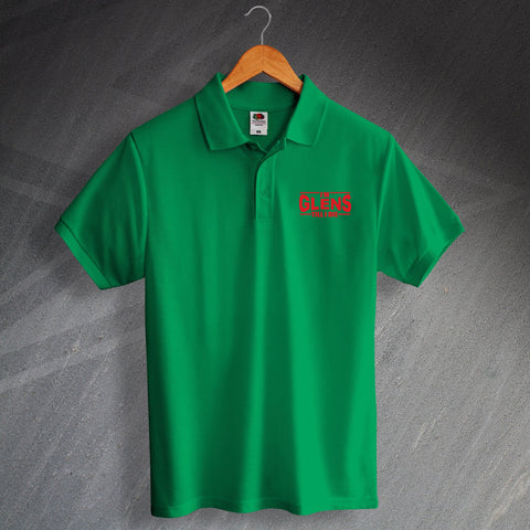 Glentoran Football Polo Shirt Embroidered I'm Glens Till I Die