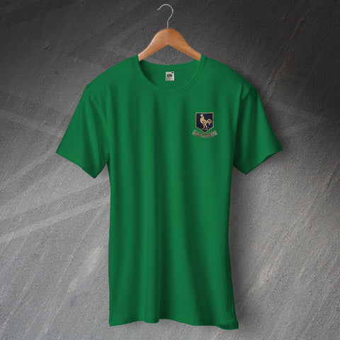 Glentoran Football Shirt Embroidered Ringer 1970s