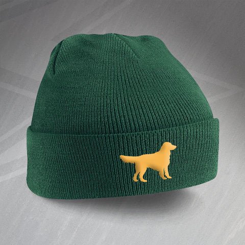 Golden Retriever Beanie Hat Embroidered