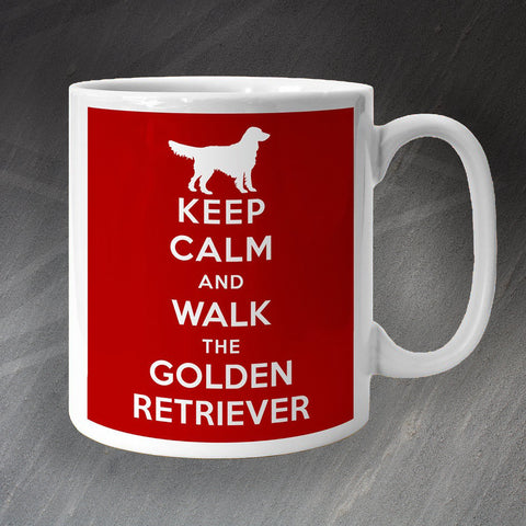 Golden Retriever Mug Keep Calm and Walk The Golden Retriever