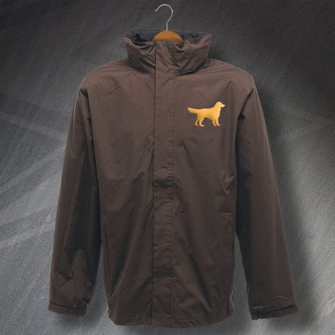 Golden Retriever Jacket Embroidered Waterproof