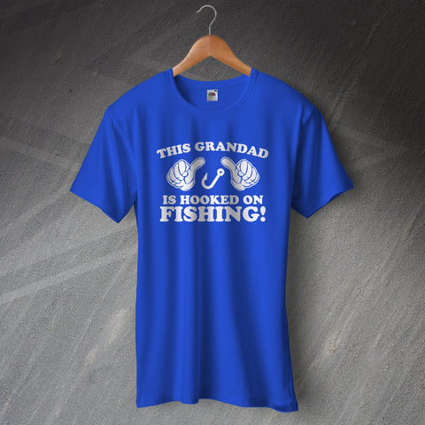 Fishing T-Shirt This Grandad is Hooked on Fishing