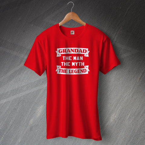 Grandad T-Shirt The Man The Myth The Legend
